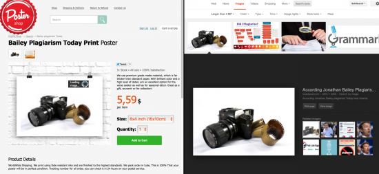 Phishing website for photographers