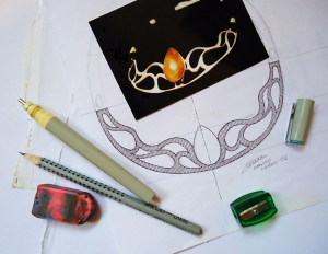 Necklace drawing